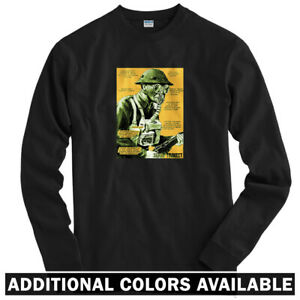 Remedy-Long-Sleeve-T-shirt-LS-Military-Gas-Mask-Vintage-Poster-USA-Men-Youth
