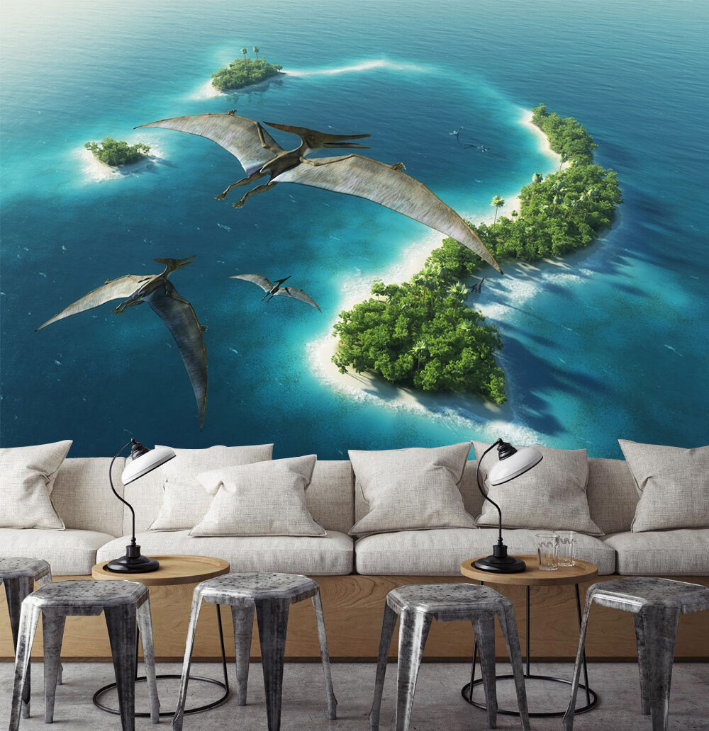 3D Flying Dinosaurs 8953 Paper Wall Print Wall Decal Wall Deco Indoor Murals