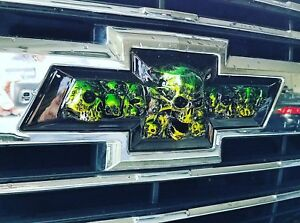 2014-2019 GM Chevy Silverado,Tahoe Bowtie Skull Emblems ...