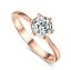 Anello-Solitario-Oro-Bianco-Placcato-Cristalli-Zirconi-Donna-Regalo-per miniatura 3