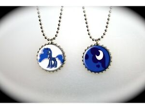 My little pony luna nightmare moon 2 sided necklace ebay image is loading my little pony luna nightmare moon 2 sided aloadofball Gallery