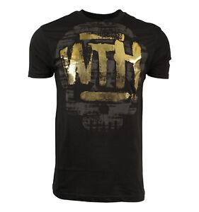 Abbey-Dawn-What-the-Hell-Black-Gold-Men-T-Shirt