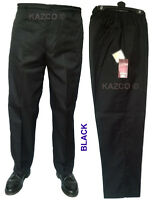 Mens Thermal Elasticated Waist Trousers Smart Golf Elastic Carabou Rugby 34 - 48