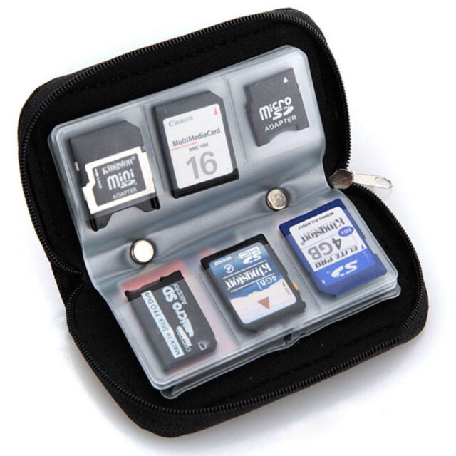 New SDHC MMC CF Micro SD Carrying Pouch Case Holder Memory Card Storage Wallet.