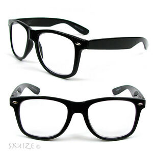 66cddc3ebe New Large Classic Frame Reading Glasses Nerd Geek Retro Vintage ...