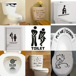 Sensational Details About Toilet Seats Art Wall Stickers Quote Bathroom Decoration Decal Vinyl Home Decor Home Interior And Landscaping Mentranervesignezvosmurscom