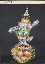 Original Vintage Poster Freudenreich Polish Cyrk Balancing Bear Circus Lion 1966