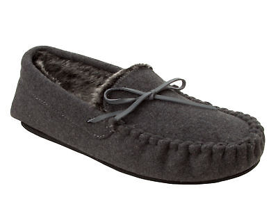 Dr Keller SEAN Mens Comfort Slip On Warm Faux Fur Lined Moccasin Full Slippers