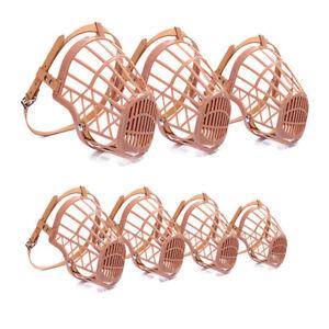 4-Museliere-Chien-Reglable-Museau-Resistant-anti-aboiement-Museliere