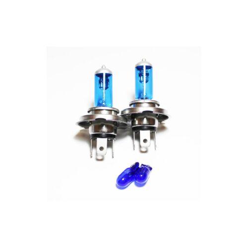 Peugeot 306 H4 501 55w ICE Blue Xenon HID High//Low//Side Headlight Bulbs Set