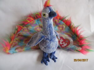 165488f48ac TY BEANIE BABY FLASHY - THE PEACOCK - MINT - RETIRED 8421043392