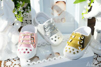 Baby Schuhe Glitzer Babyschuhe Sneaker 18 19 Neu Krabbelschuhe Rosa Gold Silber