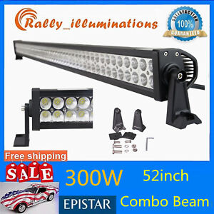 52-034-inch-300W-LED-Work-Light-Bar-Spot-Flood-Combo-Driving-Lamp-Boat-Ford-SUV-IP67