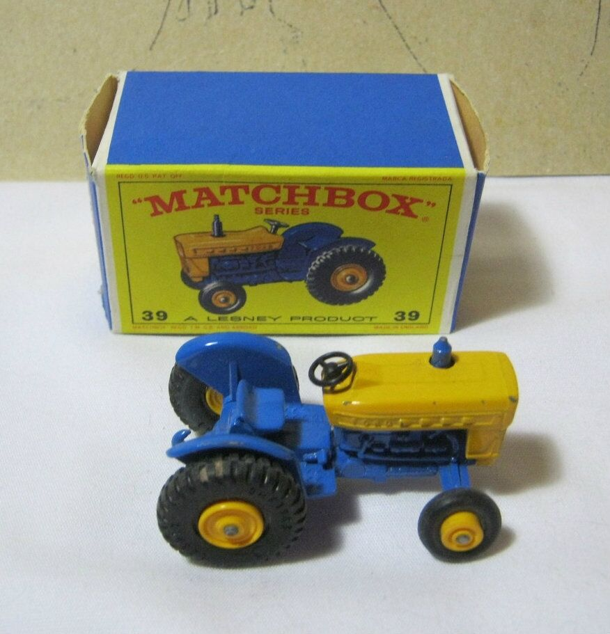 Matchbox Ford Tractor No.39 with Box Vintage Diecast  T