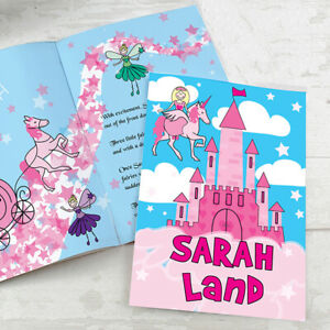 Personalised-Girls-Princess-Story-Book-Bedtime-Story-With-Child-039-s-Name-Paperback