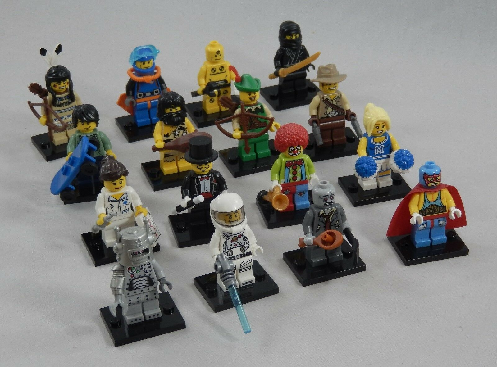 LEGO 8683 Collectible Minifigures Series 1 Complete 16 Set Figure Adult owned