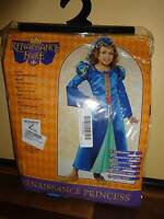 Renaissance Faire Princess Costume Blue Halloween Child's Size Medium 8-10 Sz M
