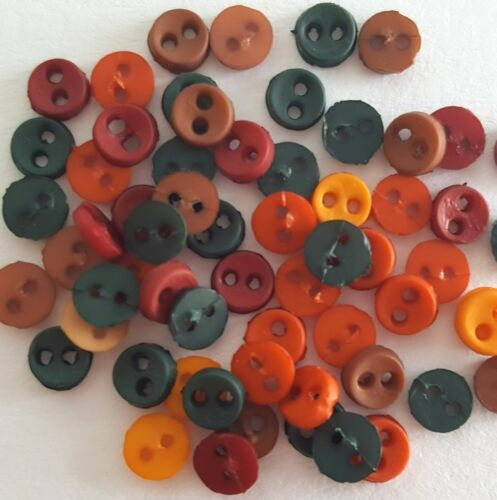 MICRO MINI Tiny Round Autumn Dress It Up Sewing Quilting Craft Buttons FALL
