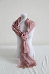 eadbb5299001 étole écharpe étole Mousseline de soie flammé ROSE beige rosé ...