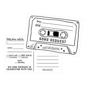 Image Is Loading Song Request Fill In Party Invitations For Wedding