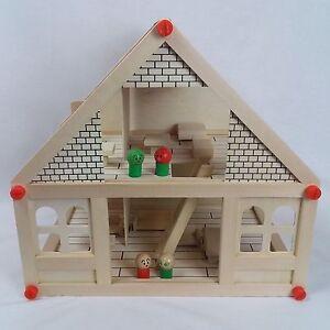 NEW-Doll-House-Children-Educational-DIY-Villa-Toy-Wooden-Dolls-Houses-Kids-vv