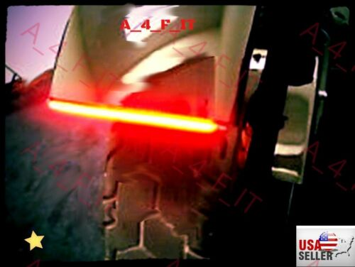 Universal LED Brake Light BAR Integrated Turn Signals Fender Mount Flush Flasher