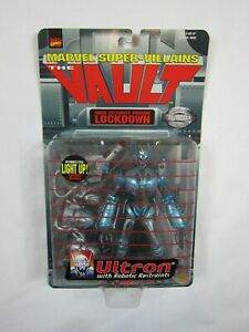 Marvel-Super-Villains-The-Vault-Lockdown-Ultron-Action-Figure-Toy-Biz-1998-NEW