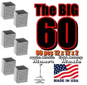 Acoustic-Foam-60-pcs-2x12x12-charcoal-grey-wedge-recording-studio-soundproofing