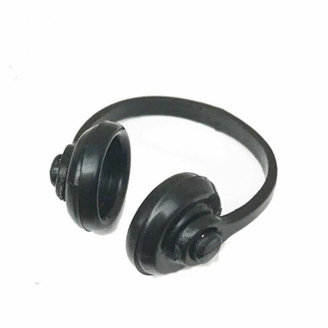 1//12 Scale Dollhouse Miniature Accessories Black Earphone Headphone FDCA