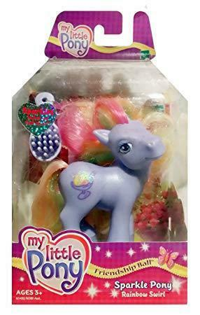 My Little Pony G3 Sparkle Rainbow Swirl Friendship Ball New
