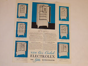 VINTAGE-1933-ELECTROLUX-GAS-REFRIGERATOR-BROCHURE-CATALOG-CENTURY-OF-PROGRESS