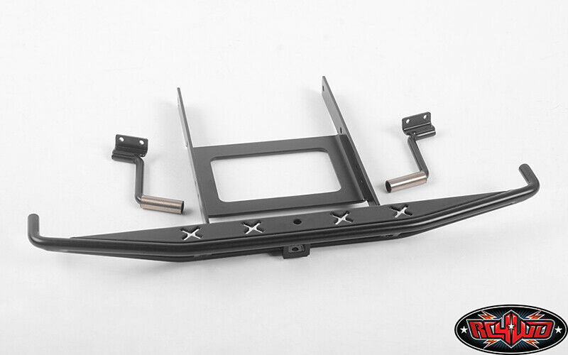 Rough cosas Metal Parachoques Trasero Con Puntas De Escape Para Axial SCX10 II RC4VVV-C0648