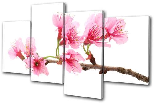 Floral Cherry Blossoms MULTI CANVAS WALL ART Picture Print VA