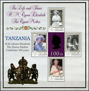 AgréAble Tanzanie 1999 Queen Mothers Siècle Neuf Sans Charnière Sheetlet #d86738-afficher Le Titre D'origine ImperméAble à L'Eau, RéSistant Aux Chocs Et AntimagnéTique