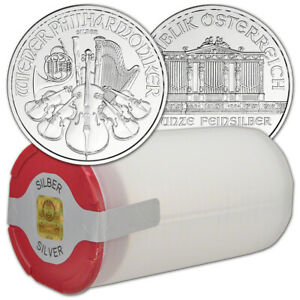 2020-Austria-Silver-Philharmonic-1-oz-1-5-Euro-1-Roll-20-BU-Coins-in-Mint-Tube