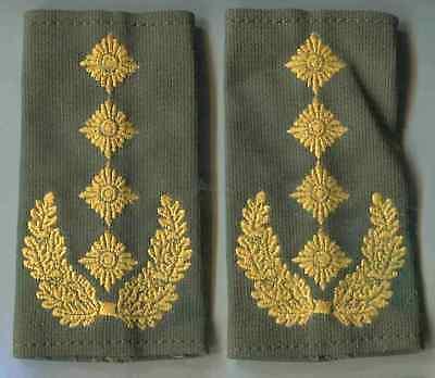 Bundeswehr Rangschlaufen Heer gelb auf oliv Generalleutnant gewebt 1 paar