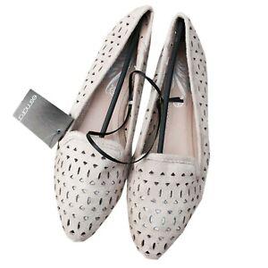 elegant-Damen-Ballerinas-spitze-Form-mit-Cut-outs-faux-Wildleder-ballet-flats