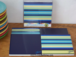 COBALT-BLUE-Fiesta-Thirstystone-Square-Set-of-4-Coasters-NIB-1st-Quality