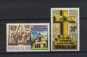 Norfolk-Islands-1975-SG-168-9-St-Barnabas-Chapel-Set