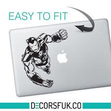 IRON MAN MARVEL MacBook adesivi in vinile nero | Laptop Adesivo | Decalcomania MacBook