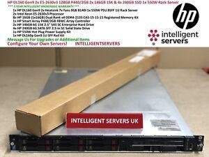 HP-DL160-Gen9-2x-E5-2630v3-128GB-4x-240GB-SSD-2x-146GB-15K-P440-2GB-servidor-en-rack