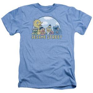 Sesame-Street-SESAME-GROUP-Licensed-Adult-Heather-T-Shirt-All-Sizes