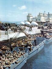6x4 Photo ww1A6 Normandy Weymouth  Boarding USS Thurston AP 77 Force Omaha