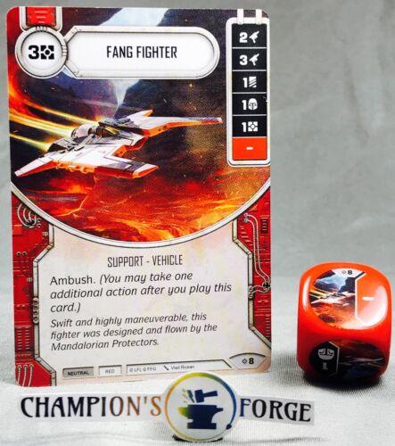 Star Wars Destiny Rivals Fang Fighter #8 w// Premium Die
