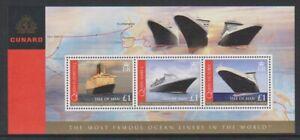 Ile-de-Man-2008-Cunard-Ocean-Doublures-Feuille-MNH-Sg-MS1405c