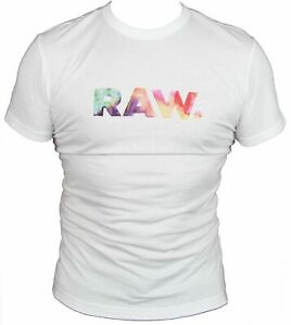 New-G-Star-Raw-Mens-T-Shirt-Round-Neck-in-White-Colour-Size-S