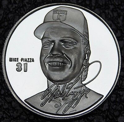 MIKE PIAZZA '31' - MLB PLAYERS LIMITED EDITION - 1 Troy oz .999 SILVER ROUND