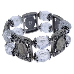 Armband Silber Antik Mit Perlen Hl. Maria Mutter Gottes Und Jesuskind Jesus