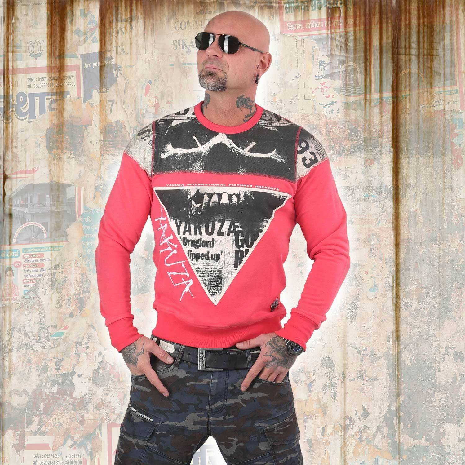 NUOVO Yakuza uomo Death by 893 Pullover Sweater-Geranium Sweater-Geranium Sweater-Geranium c366a5