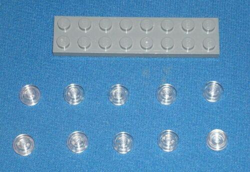 3005740 6240030 Brick 30057 10x LEGO NEW 1x1 Transparent Round Plate Stud